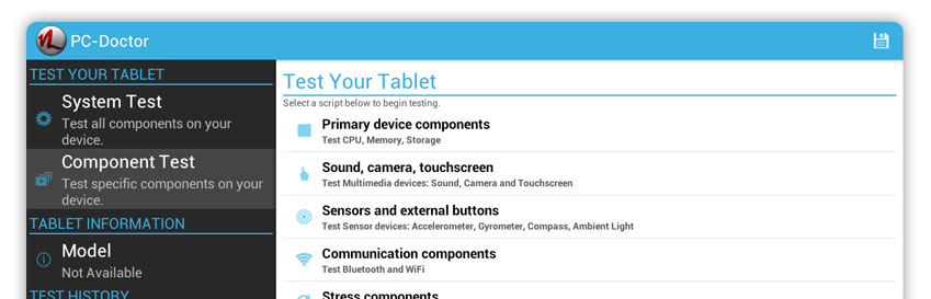 PC-Doctor for Android Diagnostics