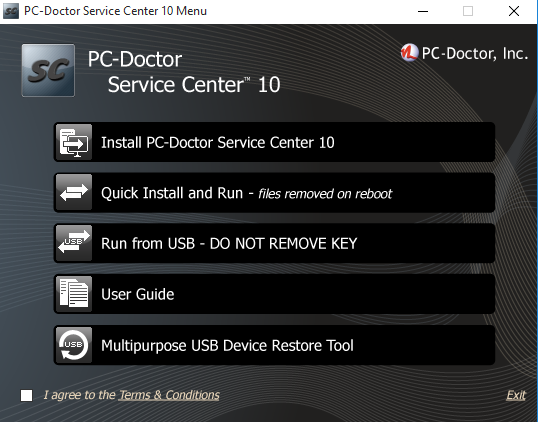 Knowledge Base - PC-Doctor Service Center Installation Methods