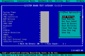 PC-Doctor for DOS - Test Selection