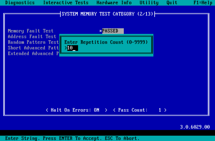 DOS Test Count