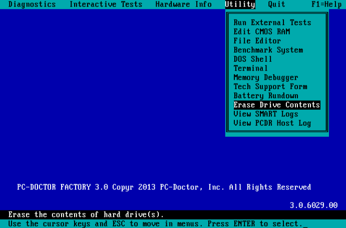 PC-Doctor for DOS - Utilities