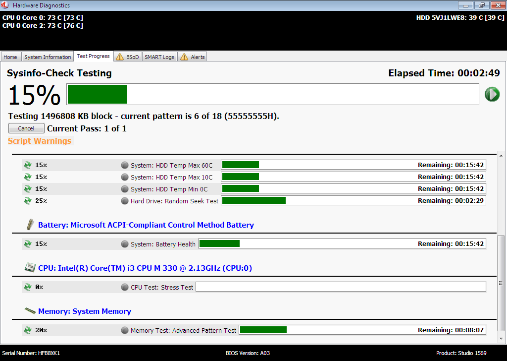 Network Factory Client - Test Progress
