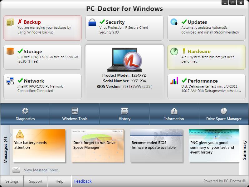 how to run memory diagnostic tool windows xp